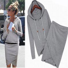 Online Shop 2015 new moleton feminino women casual sport suit women hoodies duffle sweatshirt tracksuit for women Fashion Mode, Look Fashion, Kids Fashion, Womens Fashion, Fashion Trends, Korean Fashion, Autumn Fashion, Sporty Fashion, Fashion 2014