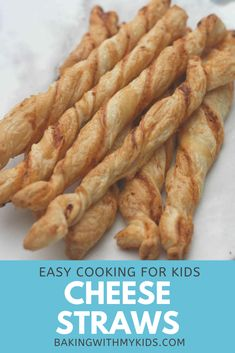 These puff pastry cheese twists or cheese straws make a great snack or party nibble or appetizer and are so simple to make yourself. #puff pastry #cheese #snack #recipe #easy #homemade #how to make #cheddar #easy to make #kids baking #baking #baking with kids Cheese Twists, Nibbles For Party, Cheese Straws, Baking With Kids, Toddler Fun, Cheddar, Baking Recipes, Biscuits, Muffins