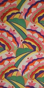 Antique Fauvist 1919 Folio of Original Deco Gouache Textile Designs