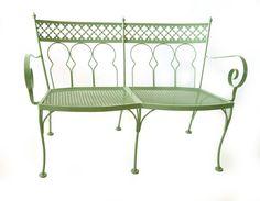 1940′s wrought iron settee