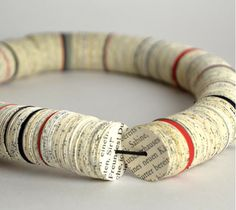 Newspaper+Jewelry | PaperPhine presents- Paper Jewelry by Paper Statement