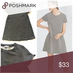 "Zara Jacquard printed shift dress Sz S Item: Zara printed jacquard sheath dress. So beautiful  Size: M fits S best IMO  Measurements: bust 17""across length 31"" Zara Dresses Mini"