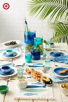 Looking for a reason to throw a backyard get-together? How about these coastal décor ideas to seal the deal. Plates, bowls, cups, table runners and more. Let the party begin.