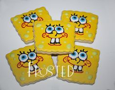 SpongeBob cookies by Frosted