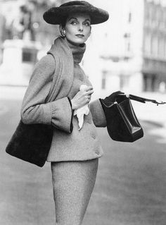 Anne St. Marie, photo by Henry Clarke, Vogue, September 1955