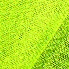 Tüll Stoff Farbe #Neongelb - Ideal für schrille Nähprojekte