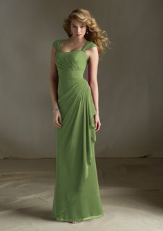 683 Bridesmaids Dresses 683 Chiffon with Removable Keyhole Coverlet