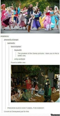 "Repinning just because ""princess kuzco don't kneel for nobody!"""