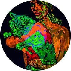 Green-Grin Quantum Superposition Of Schrödinger's Cat & Cheshire Cat Installation Schrodingers Cat, Cats, Modern Art, Contemporary Art, Saatchi Gallery, Saatchi Online, Cheshire Cat, Psychedelic, Saatchi Art