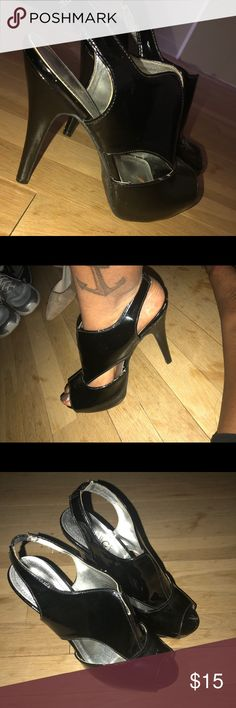 ⚡️3 inch Patent Leather Peep Toe Heels 3 inch Patent Leather Peep Toe Heels. Worn a few times, great condition. Shoes Heels