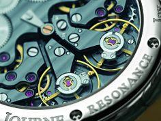 FP Journe Chronometre Resonance movement in Ruthenium
