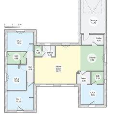 Plan de maison : Une maison en phase avec son époque | Faire construire sa maison Construction, Architecture, House Plans, Furniture Design, Garage, Floor Plans, How To Plan, Deco, Vide
