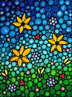 Colorful mosaic by Sharon Cummings
