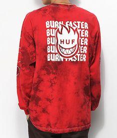 bd03982fb HUF x Spitfire Burn Faster Red Tie Dye Long Sleeve T-Shirt