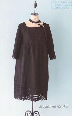 Simple Style Dress by Machiko Kayaki por JapanLovelyCrafts en Etsy