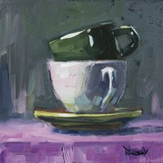 cathleen rehfeld • Daily Painting: Study for Six Cups