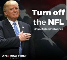 Take a stand not a knee ❤