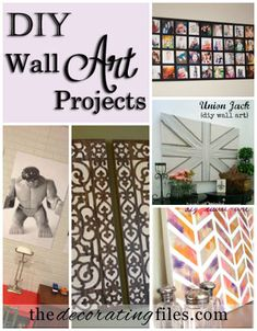 DIY wall art projects are a great way to decorate a home on a budget. These 5 wall art projects look fabulous, are easy to make and you can customize them!