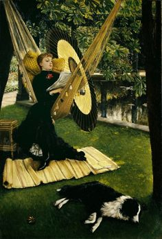 The Hammock. James Jacques Joseph Tissot (French, 1836-1902).
