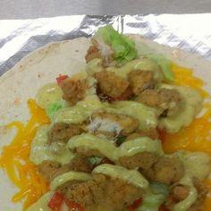 Fried Chicken Wrap with Honey Mustard.  #amazing
