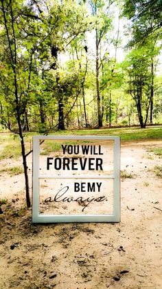 You will forever be my always. Diy antique window with a love quote decal.