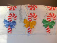 Sewing Panel Vintage Applique Candy Canes or by MadkDesigns, $3.99