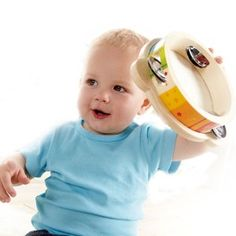 Eco-Friendly and Non-Toxic Musical Toys for Baby: Hape Mr. Tambourine