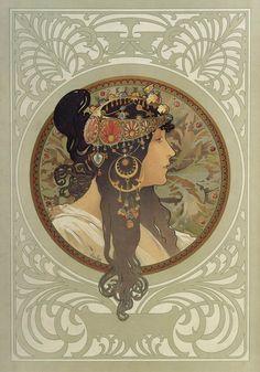 Byzantine Head - Alphonse Mucha