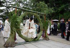 茨木神社「茅の輪(ちのわ)くぐり」 Japan, Japanese