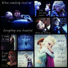 Elsa and Anna (Frozen) When somebody loved me