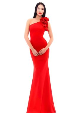 5eb4fff13295 Tarik Ediz 93341. Winter GownsEmbellished DressRed ...
