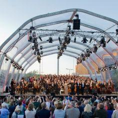 Open Air der Berliner Philharmoniker: vor der Berliner Philharmonie Nahe Potsdamer Platz kostenlos tolle Musik erleben