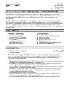 Click Here to Download this Assistant Manager Resume Template! http://www.resumetemplates101.com/Customer%20Service-resume-templates/Template-389/