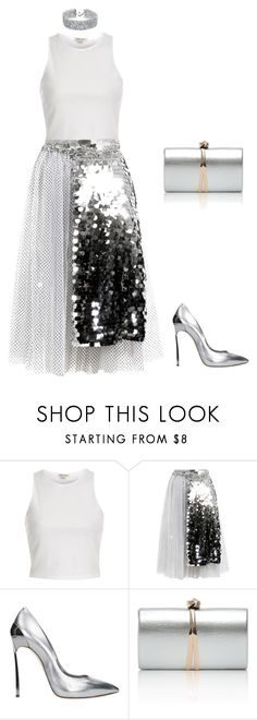 """""""Ano novo 1"""" by caroltips ❤ liked on Polyvore featuring River Island, Anouki, Casadei and DANNIJO"""