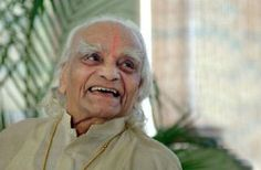B.K.S. Lyengar, 93. one of the foremost yoga teachers in the world. Watched a documentary with him in it. He reminds me so much of my first yoga instructor, Gywansham.