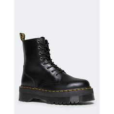 Dr. Martens Dr. Martens Jadon Boot (655 RON) ❤ liked on Polyvore featuring shoes, boots, dr martens footwear, dr. martens, dr martens boots and dr martens shoes