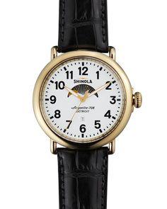 Shinola The Runwell Moon Phase Dial Watch, 47mm