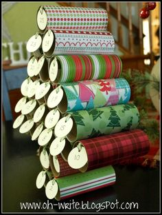 Another advent calendar from toilet paper rolls