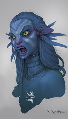 Pandora Jewelry OFF!> Neytiri WarPaint by Boris-Dyatlov Alien Character, Character Concept, Character Art, Concept Art, Avatar Films, Avatar Movie, Fantasy Creatures, Mythical Creatures, Avatar James Cameron