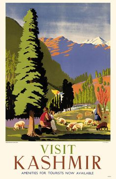 Pakistan - Visit Kashmir, Amenities for Tourists Now Available, 1949 Vintage travel poster