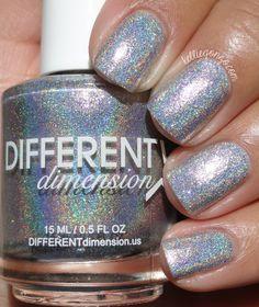 Different Dimension Monroe // Holo Nail Polish, Nail Polish Brands, Gold Polish, Hair And Nails, My Nails, Nail Blog, Fun Cupcakes, All That Glitters, Different