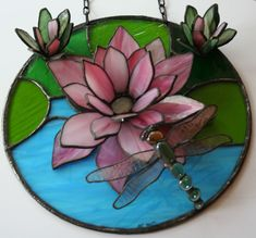 Stained glass decorative art. $200.00, via Etsy.
