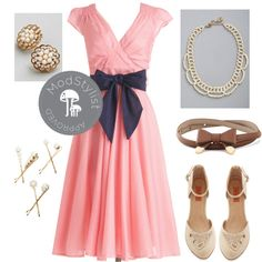 """""""Have the Dance Floor Dress in Dots"""" by modcloth on Polyvore"""