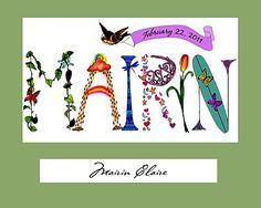 Projects For Kids, Crafts For Kids, Initial Art, Font Design, Name Art, Toddler Art, Lettering, 4 Kids, Teaching Art