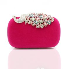 Luxurious Crystals In Peafowl Shape Lady Clutch Bag#GST2026 (0) reviews | Write a review | Ask a question Price: $74.00 List Price: $176.19