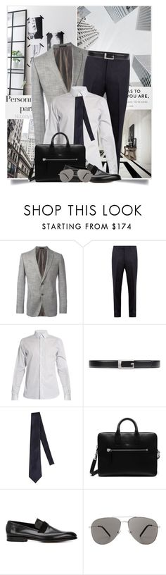 """Complementary Colors"" by tina-abbara ❤ liked on Polyvore featuring Armani Collezioni, Gucci, Valentino, Giorgio Armani, Mulberry, John Lobb, Yves Saint Laurent, men's fashion, menswear and valentino"