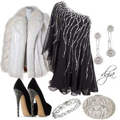 """""""New Years Eve Gala Party"""" by dgia on Polyvore as long as thats FAKE fur... :D"""
