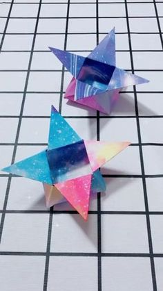 30 Awesome Origami Crafts for Kids Paper Flowers Craft, Paper Crafts Origami, Origami Paper, Diy Arts And Crafts, Handmade Crafts, Fun Crafts, Crafts For Kids, Tarjetas Diy, Origami Videos