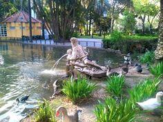 Fountain in Estrela Park Lisbon