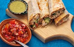 The sweet and creamy flavor of the Chicken Burritos.
